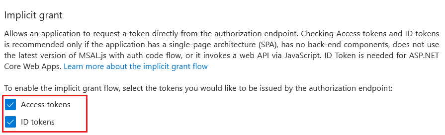 Authentication - Enable ID Tokens
