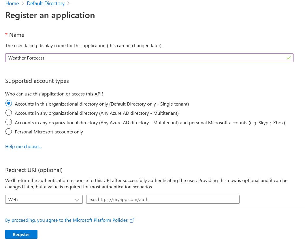 Azure AD App Registration