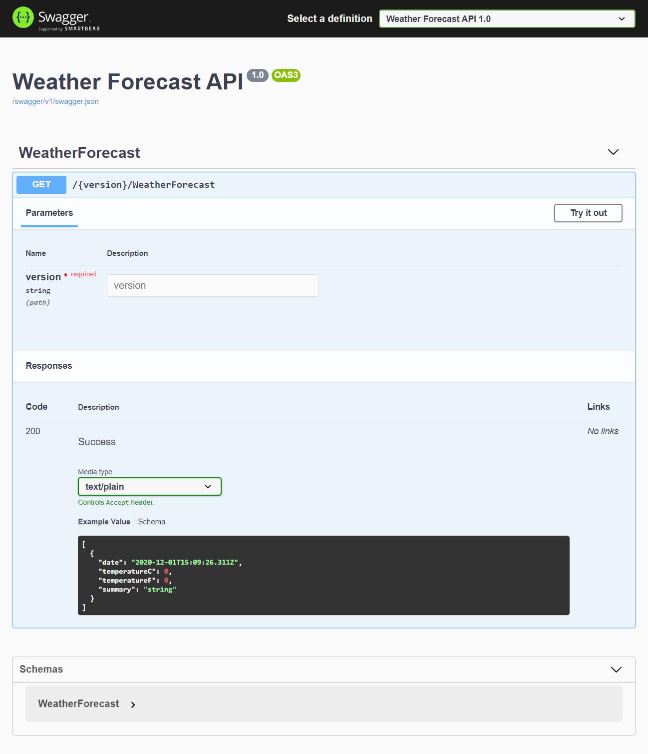 Open API support for Web API