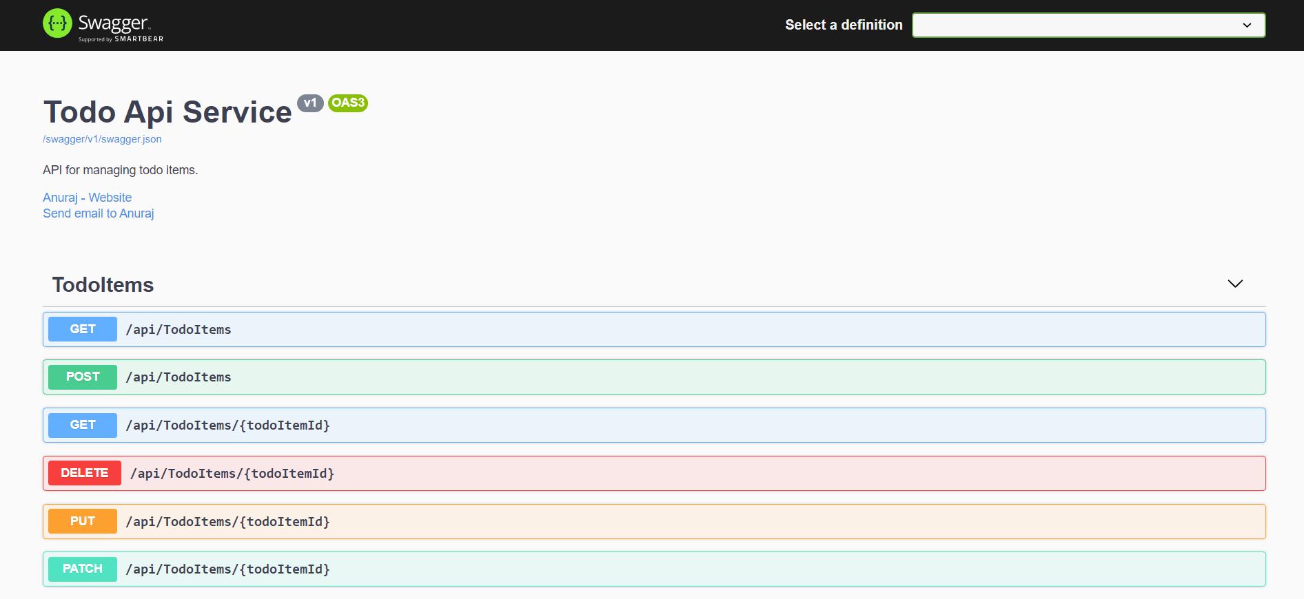 Open API documentation