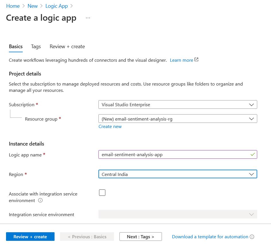Create Logic App