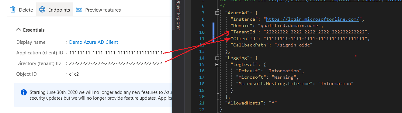 Azure AD App Configuration - Mapping