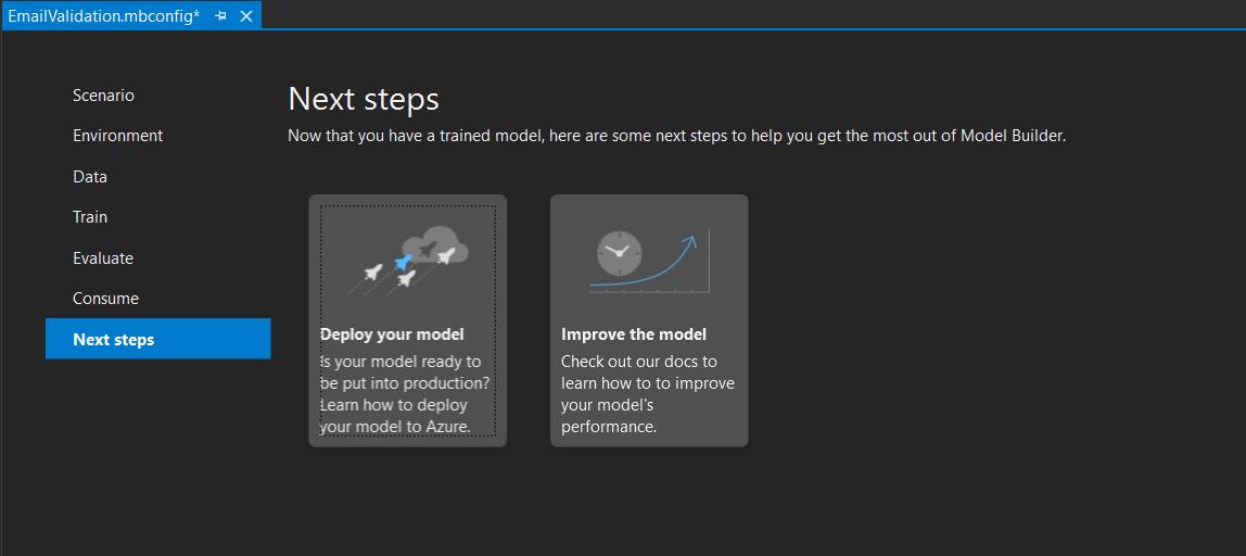 ML Builder - Next Steps