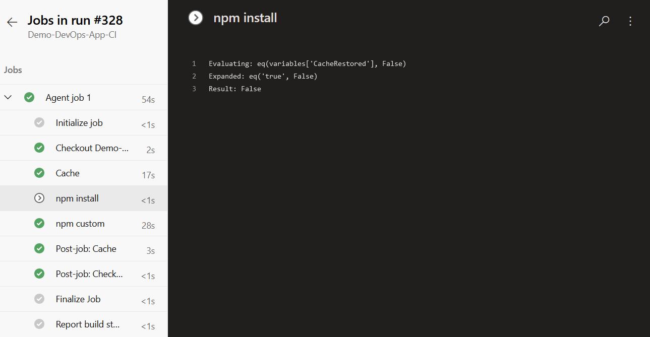 NPM Install Step - Skipped