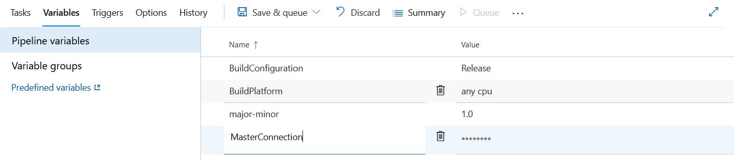 Azure DevOps Build Pipeline variable