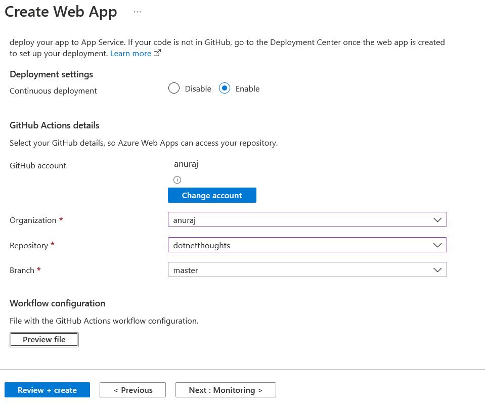 Azure App Service - Continuous Deployment