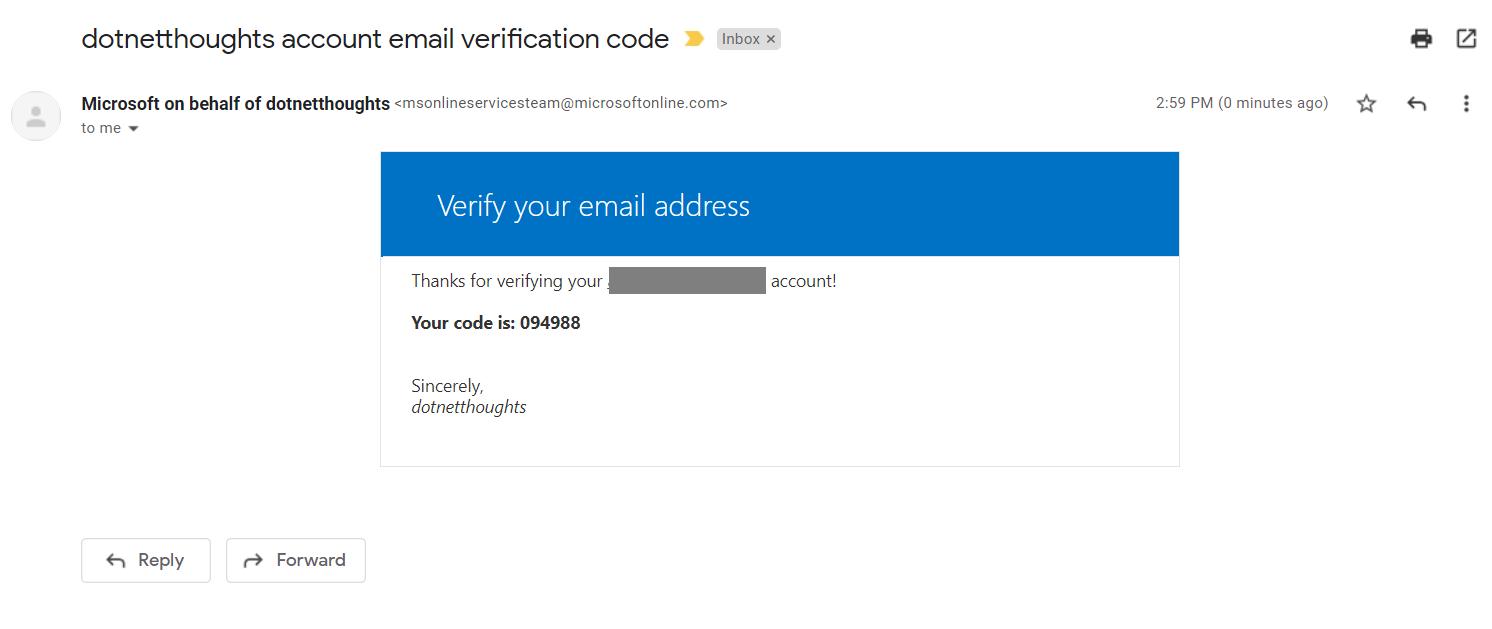 Email Address verification