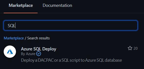 SQL Server Deploy Action